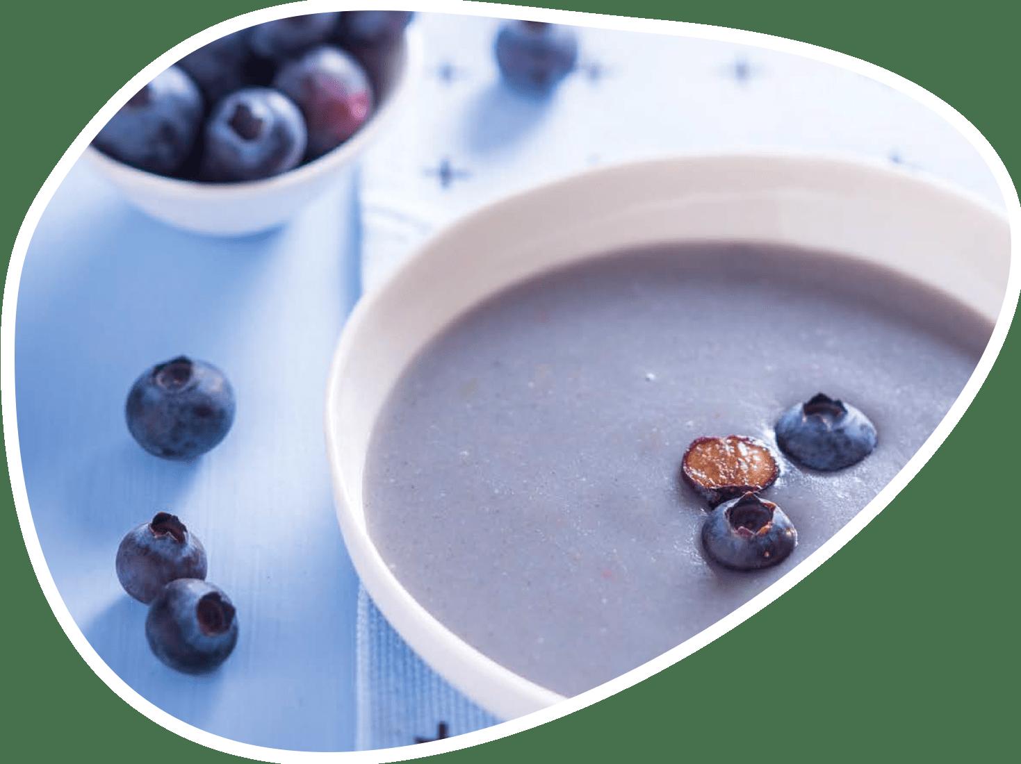 Recette crème myrtilles | Bébé M