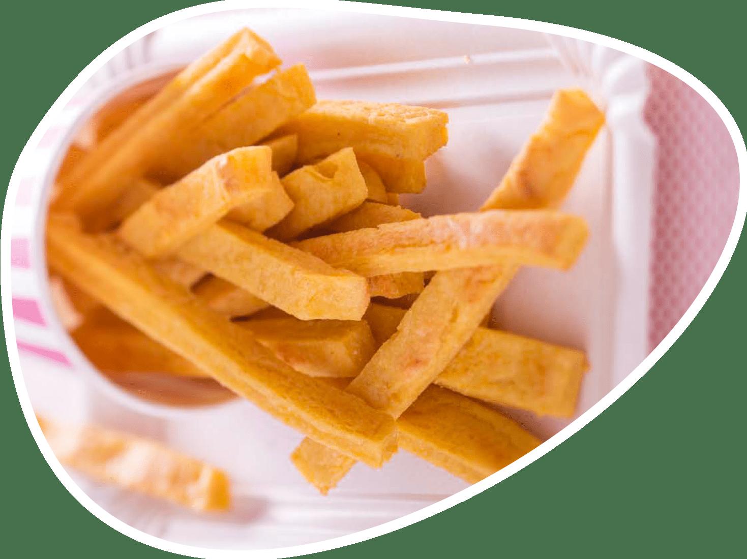 Recette frites panisse curcuma | Bébé M
