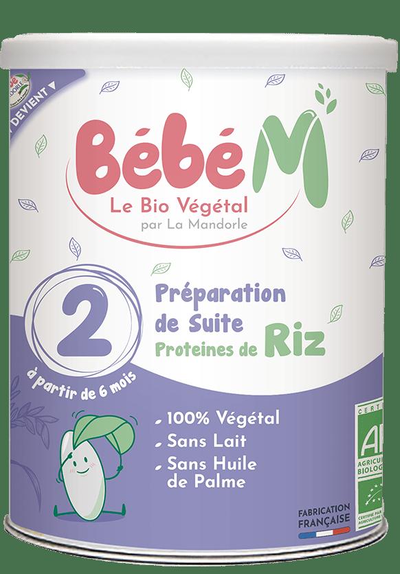 Préparation lait végétal bio protéines de riz dès 6 mois | Bébé M