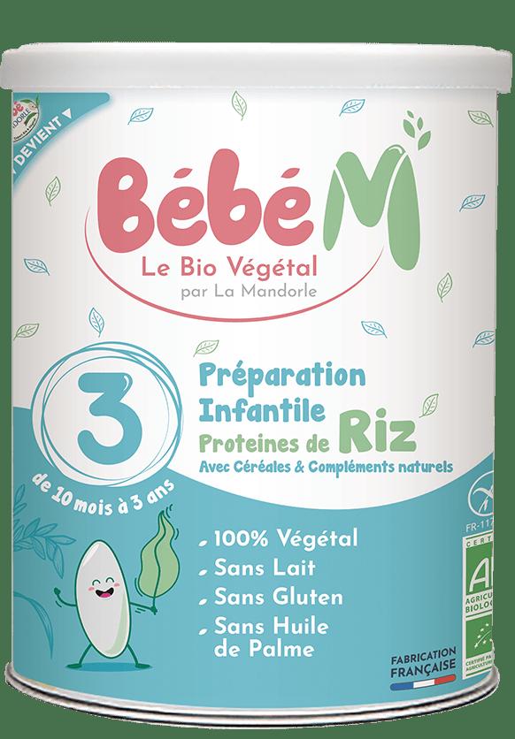 Préparation lait végétal bio protéines de riz dès 10 mois | Bébé M