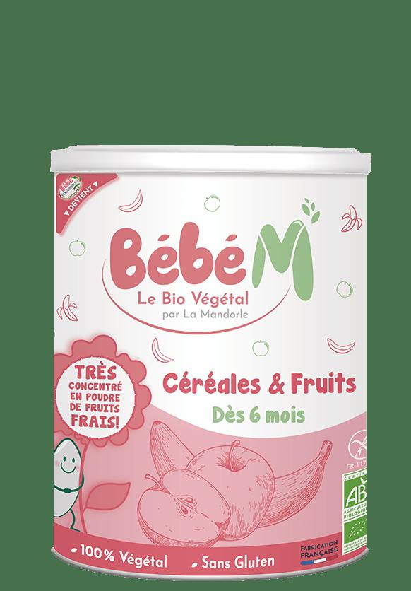 Préparation bio céréales et fruits dès 6 mois | Bébé M