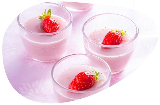 Recette flan aux fraises   Bébé M